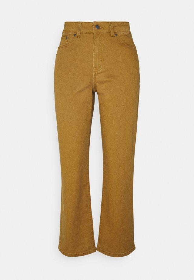 OBJMOJI - Straight leg jeans - tapenade