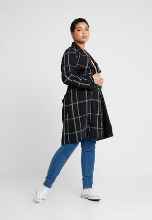 CHECK COAT - Zimní kabát - black