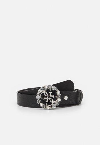 ADJUSTABLE PANT BELT - Cintura - black/silver-coloured