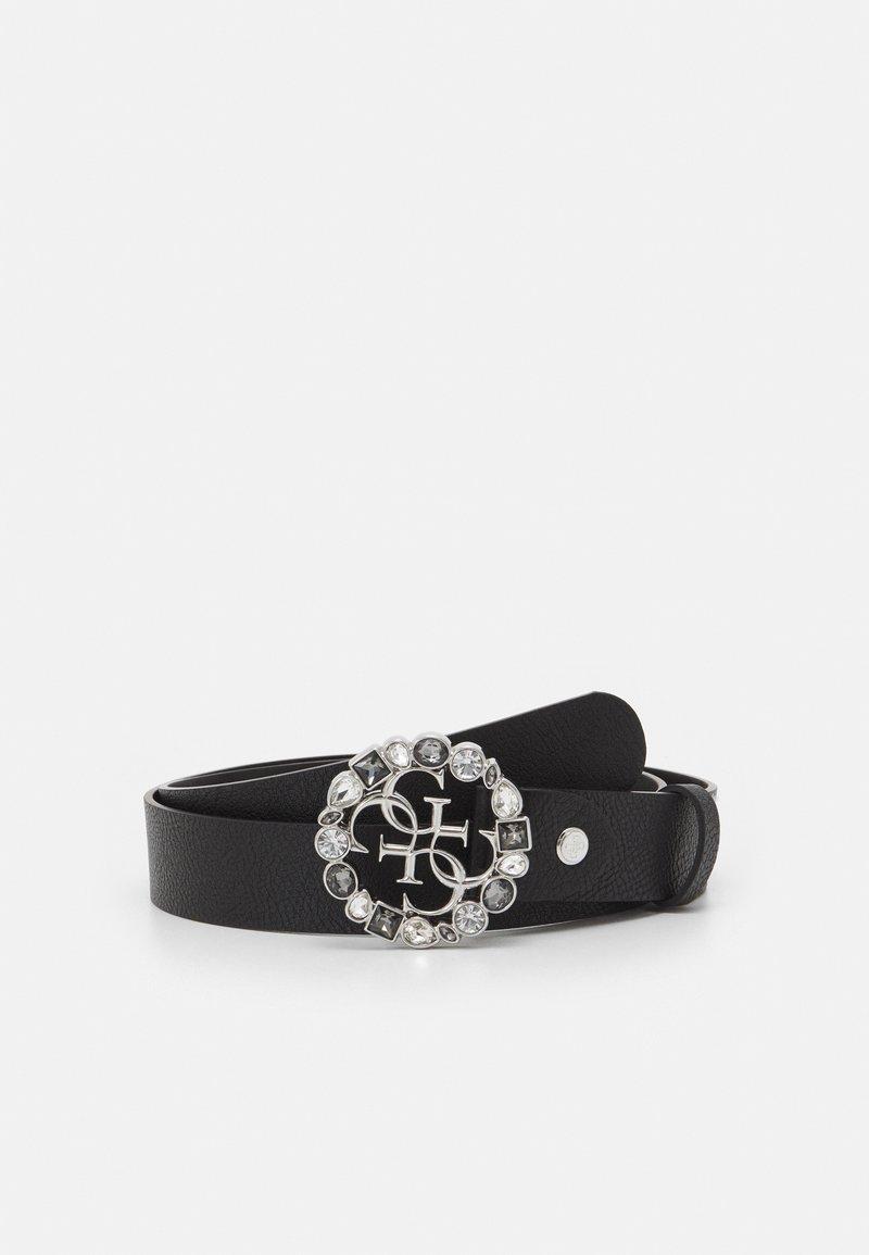 Guess - ADJUSTABLE PANT BELT - Belte - black/silver-coloured
