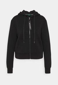 AKILAH ZIPPED  - Zip-up hoodie - jet black