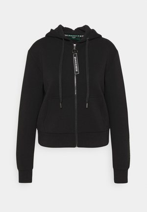 AKILAH ZIPPED  - Zip-up hoodie - jet black