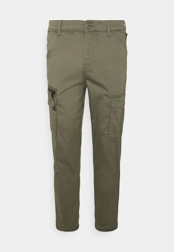 JJIACE JJDEX TAPERED - Pantaloni cargo - dusty olive