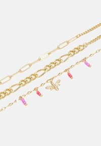 Pieces - PCELLY ANKLET 3 PACK - Riipus - gold-coloured/pink - 2