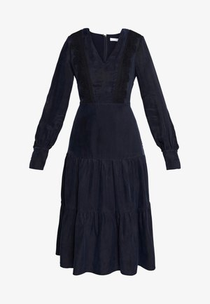 MIX DRESS MIDI - Denní šaty - navy blue
