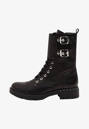 NIETEN - Kovbojské/motorkářské boty - black