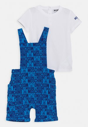 DUNGAREE SET - Basic T-shirt - blue