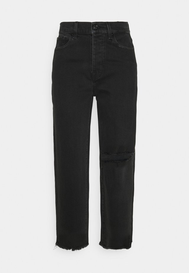 DYLAN FEARLESS DISTRESSED - Jean droit - black