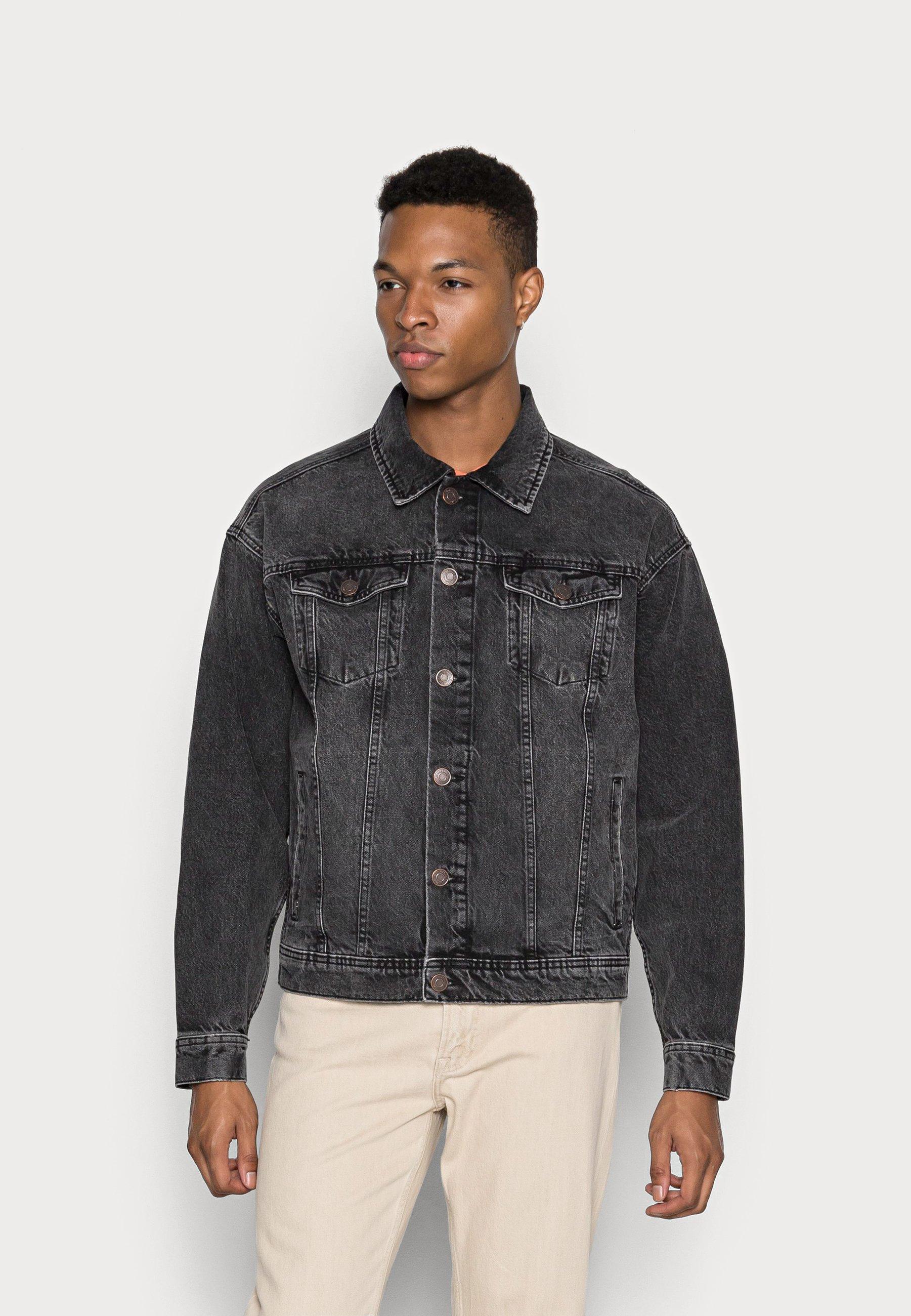Uomo JJIJEAN JJJACKET DROP SHOULDER  - Giacca di jeans