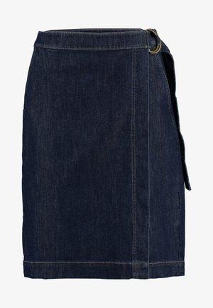 WRAP PENCIL - Zavinovací sukně - dark wash