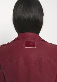 Guess - NEW KHLOE JACKET - Faux leather jacket - deep burgundy - 3