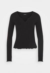 Even&Odd - Langærmede T-shirts - black - 4