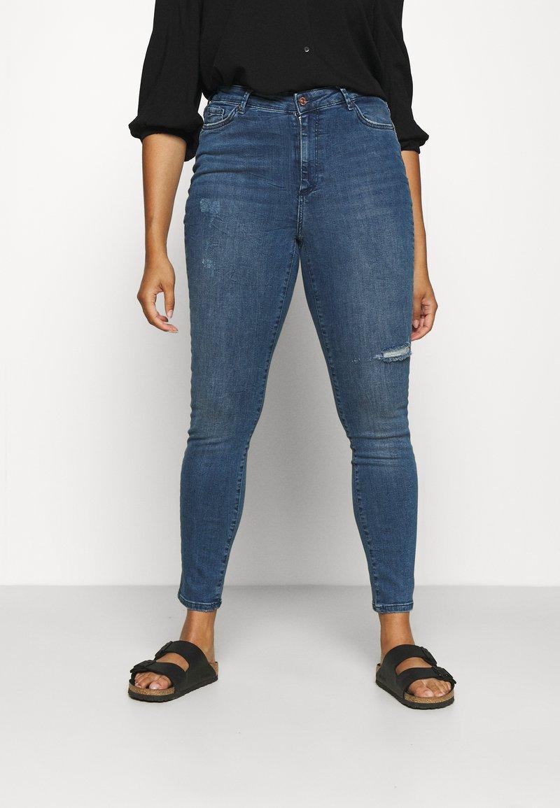 Vero Moda Curve - VMSOPHIA SCULPT - Jeans Skinny Fit - dark blue denim