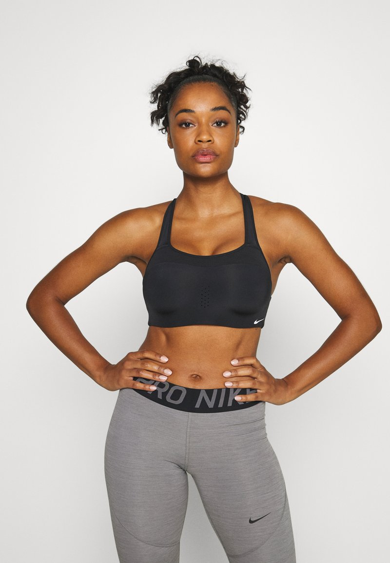 Nike Performance - ALPHA BRA - High support sports bra - black/white