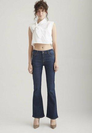 LAURA - Bootcut jeans - dark blue vintage