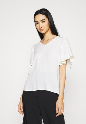 VMNADS TRAPEZ SLEEVE - Print T-shirt - birch