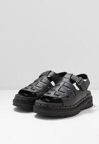 Skechers Sport - JAMMERS - Platform sandals - black - 4