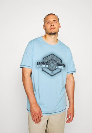 JCOLOGO UNIVERSE TEE CREW NECK - T-shirt con stampa - dusk blue