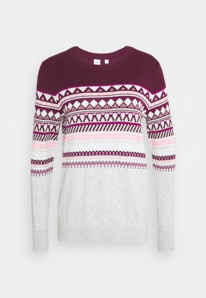 FALL FAIRISLE CREW - Jumper - secret plum
