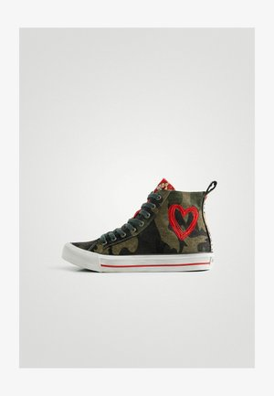 High-top trainers - green