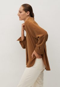 Mango - MADE - Button-down blouse - braun - 3