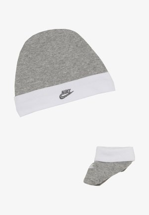 FUTURA HAT AND BOOTIE BABY SET - Čepice - dark grey heather