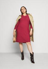 Persona by Marina Rinaldi - GARDENIA - Gebreide jurk - dark red - 1