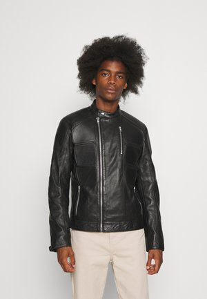 COUTURE - Leather jacket - black