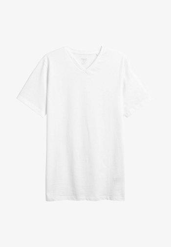 V-NECK T-SHIRT-SLIM FIT - Basic T-shirt - white