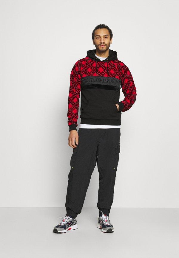 Glorious Gangsta GALVEZ OVERHEAD - Bluza - black/red/czarny Odzież Męska AFIQ