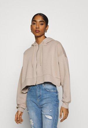 BOX ZIPPER HOODIE - Zip-up hoodie - beige (etherea)