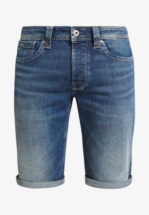 CASH SHORT - Denim shorts - dark-blue denim