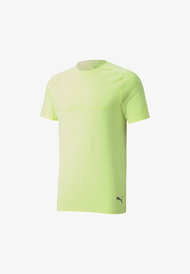 ENERGY SEAMLESS - Basic T-shirt - fizzy yellow heather