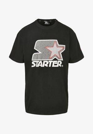 Print T-shirt - blk/gry