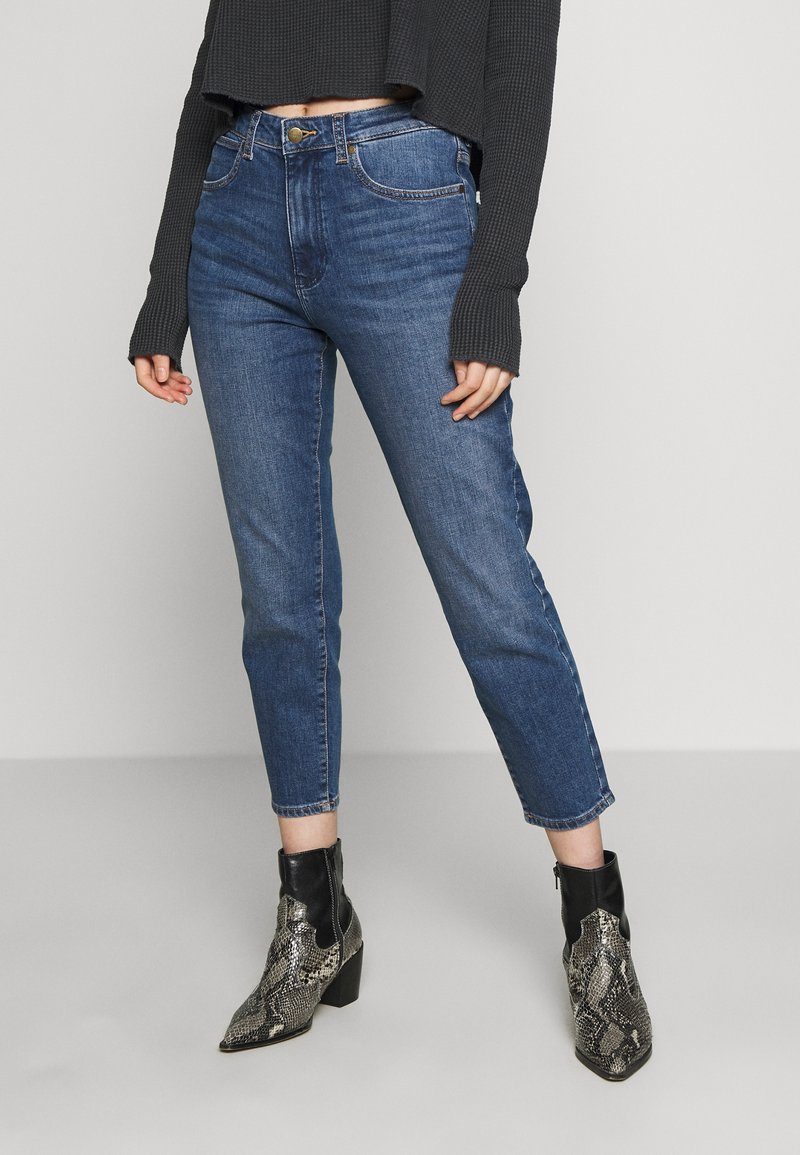 Wrangler - BOYFRIEND - Jeans relaxed fit - blue denim