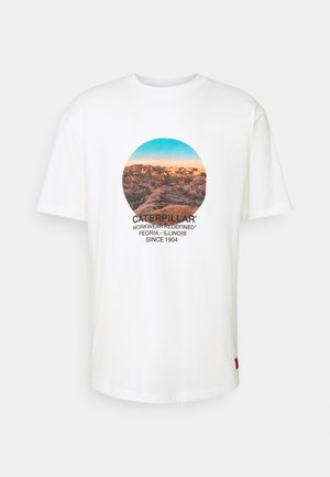 DESERT GRAPHIC - Print T-shirt - cream