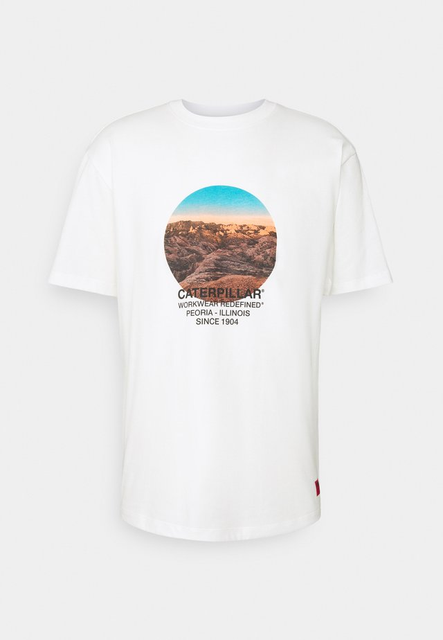 DESERT GRAPHIC - T-shirt med print - cream