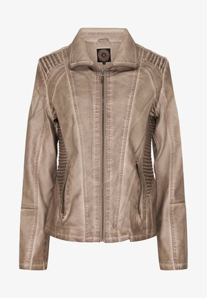 MILAN - Imitatieleren jas - light brown