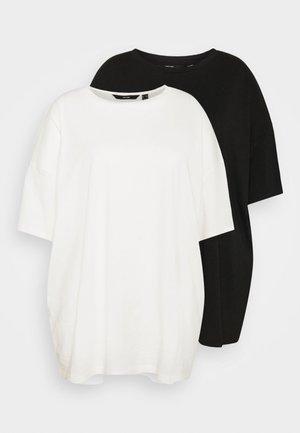 VMNELLIE 2 PACK - Basic T-shirt - black/ snow white