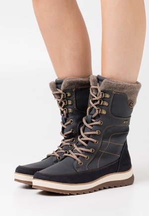 Lace-up boots - navy