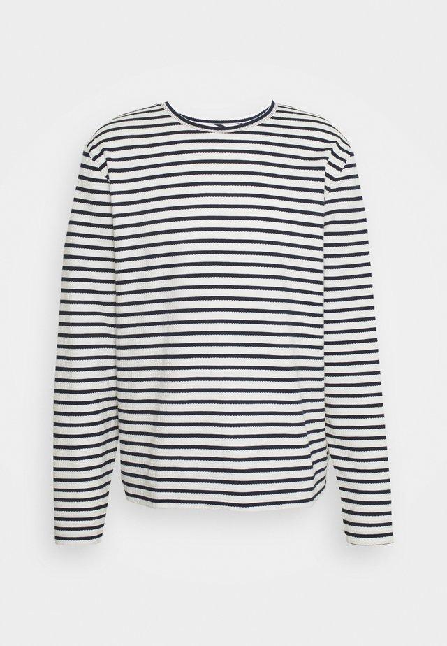 Långärmad tröja - white/navy