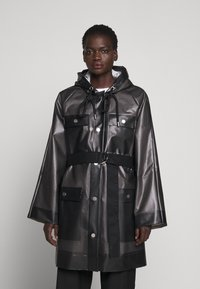 Proenza Schouler White Label - BELTED WITH STRIPED LINING - Parka - dark grey - 0