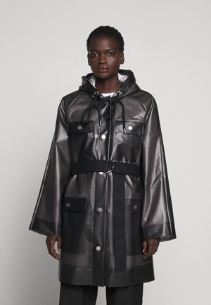 BELTED WITH STRIPED LINING - Parka - dark grey