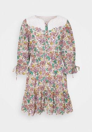 PRINTED MINI TIERED DRESS - Day dress - purple/green