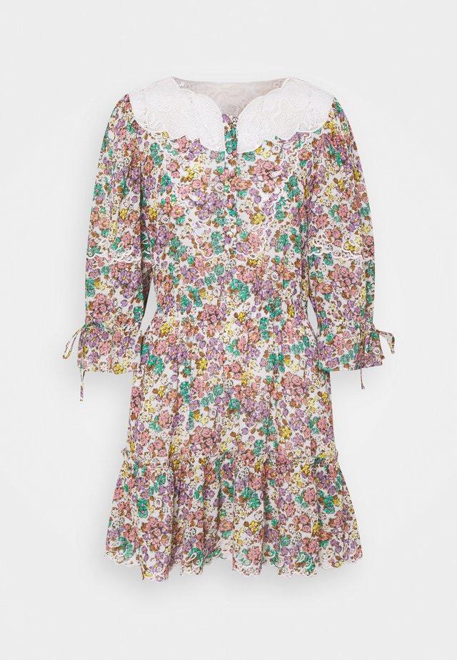 PRINTED MINI TIERED DRESS - Robe d'été - purple/green