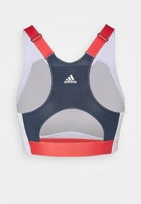 adidas Performance - ALPHA - Reggiseno sportivo con sostegno elevato - white/navy - 6