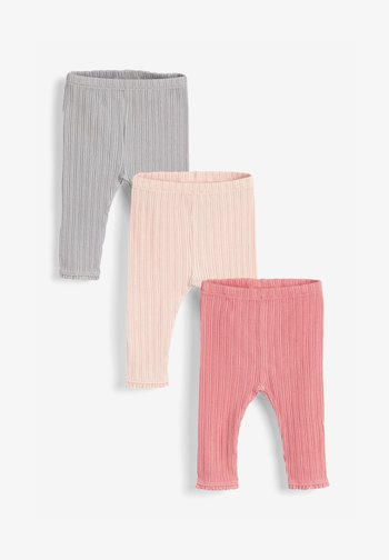 3 PACK - Leggings - Trousers - light grey  coral light pink