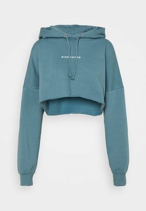 CROPPED HOODIE - Luvtröja - light blue