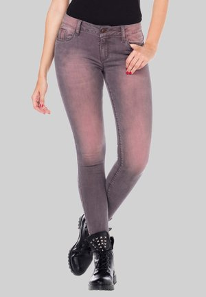 MIT CLASSIC WASH - Slim fit jeans - darkpink