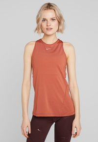 Nike Performance - TANK ALL OVER  - Sports shirt - dusty peach/echo pink - 0